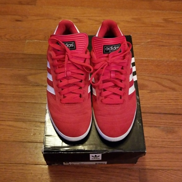 Adidas Busenitz Red Size 9 EUC With Rep Box